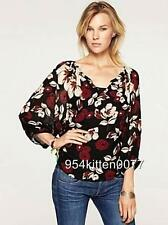 *WOW* $80 NWT LUCKY BRAND FLORAL PRINT TOP BLOUSE SMALL