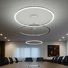 Modern LED Round Acrylic Pendant Lamp Ring Ceiling Light Lighting Chandelier SU2