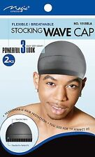 Magic Collection Men Stocking Wave Cap, Flexible  ( Black ) cat no. 1515BLA
