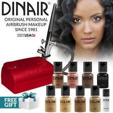 Dinair Airbrush Foundation Makeup Kit Pro | 10pc Make-Up Set | Tan Shades