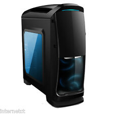 AVP VENOM MESH FRONT PANEL GAMING BLACK MIDI TOWER CASE  WITH BLUE LED