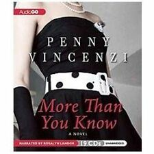 More Than You Know, Vincenzi, Penny