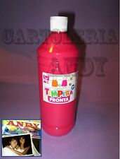 TEMPERA LIQUIDA PRONTA IN BOTTIGLIA 1000 ML (1 LITRO) - MAGENTA 08808/25