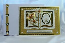 Gran Personalizado 50º Bodas De Oro Aniversario Tarjeta + caja que empareja