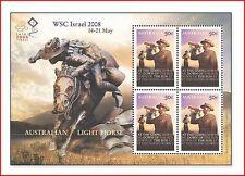 AUS0814 AZNAC veterans of World War I, horses, reprint WSC Israel 2008