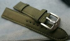 22mm  Hamilton gents auto watch khaki nylon military  strap band bracelet