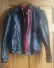 Vintage 1980s Fitted Leather Jacket Black Women's Sz 8 Saint Laurent Balenciaga