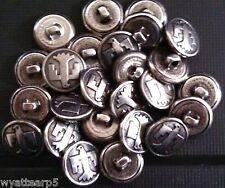 Lot of 25 Vintage Metal American Eagle Sewing Button Buttons NOS New