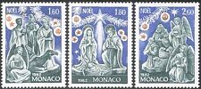 Monaco 1982 Christmas/Nativity/Greetings/Angels/Camel/Magi/Sheep 3v set (n43038)