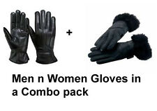Gloves Men n Women Gloves in Leather for Winter n Rainy Season in combo