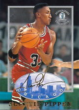 SCOTTIE PIPPEN 1997 AUTOGRAPHED COLLECTION CARD! 6X NBA CHAMP!  CHICAGO BULLS!