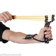 Powerful Slingshot Rubber Bands Wrist Catapult Outdoor Equipment Two Rubber Band