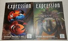 Lot of 2 Expression Magazines Gourd Craft Masquerade Masks Fish Bowls Polymer