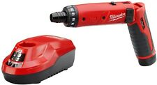 Heavy Duty Cordless Screwdriver & Lithium-Ion Battery Kit, Milwaukee M4 4-Volt