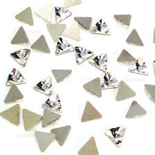 12 pcs Swarovski 2716 Rivoli Triangle Flatback No-Hotfix 5mm clear CRYSTAL (001)