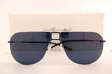 New Silhouette Sunglasses TMA ICON 8688 6231 Black/Blue Grey Polarized For Men