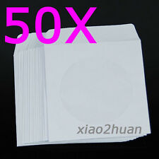 50 sleeves Mini Paper CD DVD Flap Case Cover Envelope