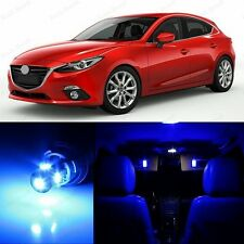 11 x Ultra Blue LED Interior & Plate Lights Package Kit For 2014 - 2015 Mazda 3