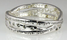 4030541 Psalm 19:11 Weaving Christian Stretch Bracelet Jesus Religious Christ...