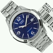 Casio Men's MTP-1215A-2A Silver tone blue dial analog watch.