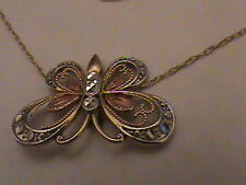 Beautiful 10k Gold Chain with Butterfly Pendant