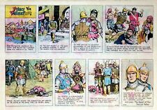 Prince Valiant by Hal Foster - lot of 22 half-page Sunday comics from early 1977