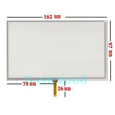"7"" Resistive LCD Touch Screen Panel Digitizer For GPS hd- x10 x20 162*97mm"
