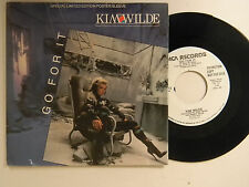 Kim Wilde 45 w/poster sleeve GO FOR IT / SAME SONG~Mca VG++
