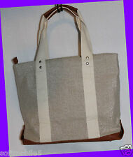 Bath & Body Works Mothers Day VIP Bag 2013 BEIGE CANVAS FAUX LEATHER