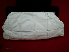 Vtg Original 80s 50s White Black Genuine Italian Leather Clutch Bag! Super Rare!