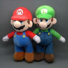 """Super Mario Mario and Luigi brothers 2pc plush toy DOLL 9.8"""" HIGH NEW US"""