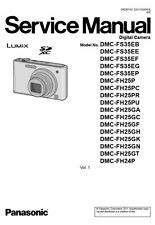 Panasonic Lumix DMC-FH24 FH25 FS35 Service Manual & Repair Guide