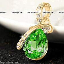 Emerald Green Gold Necklace Gifts for Girlfriend Daughter Sister Mum Valentine