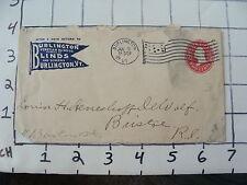 Original Vintage paper: 1930 Burlington Blinds and Screens VT envelope