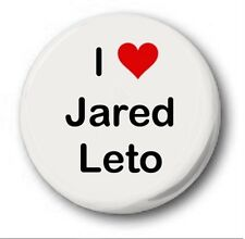 "I Love Jared Leto 25mm 1"" Button Badge - Heart 30 Seconds to Mars Student Emo."