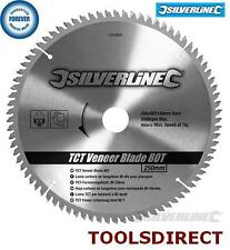 80T Fine Cut 250mm Circular Saw Blade 30mm Bore 25mm 20mm 16mm Rings Mitre 10""