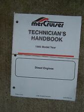 1995 Model Year Mercury Mercruiser Diesel Engine Outboard Technician Manual U