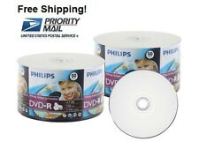 SPECIAL!!! 100 PHILIPS 16X White Inkjet HUB Printable DVD-R Disc 4.7GB