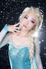 Frozen Elsa Adult Queen Princess Ponytail Wig Hair For Halloween Cosplay Party