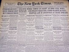 1937 JAN 26 NEW YORK TIMES - WHOLE TOWNS IN FLIGHT AS OHIO STILL RISPS - NT 428
