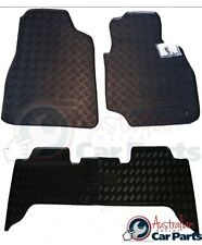 TOYOTA LANDCRUISER 70 SERIES RUBBER MATS FRONT & REAR SET 2007-2012 NEW GENUINE