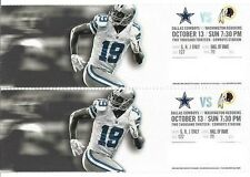 2013 DALLAS COWBOYS VS WASHINGTON REDSKINS TICKET STUB 10/13 RG III 3 ROMO