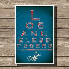Los Angeles Dodgers Poster MLB Baseball Eyechart Art Print 12x16""