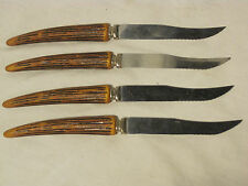 4 vintage Reo Products knife cutlery U.S.A. steak kitchen knives mid century mod