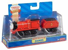 THOMAS AND FRIENDS WOODEN RAILWAY BATTERY OPERATED JAMES ENGINE ACTION FIGURE