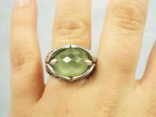 Carolyn Pollack Relios Sterling Silver Ornate Filigree & Faceted Ring,7.75