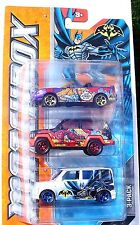 Matchbox BATMAN 3-Pack: Ford & Jeep METALLIC & PEARL PAINT Jobs New SEALED Pack!
