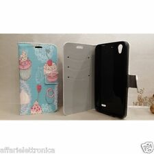 CUSATODIA COVER CASE GEL FLIP LIBRO STAND GLAMOUR PER HUAWEI Ascend G630 630
