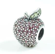 Authentic Genuine Pandora Silver Red & Green Apple Charm - 791485CFR
