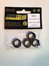 Mitoos M084 Semi-Slick Tyres x 4 - 19 x 10mm - 32 Shore - New